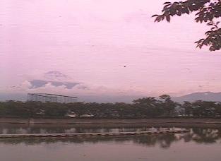 東山湖から見える富士山ライブカメラ