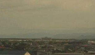 北羽新報社から見える能代市ライブカメラと雨雲レーダー/秋田県能代市