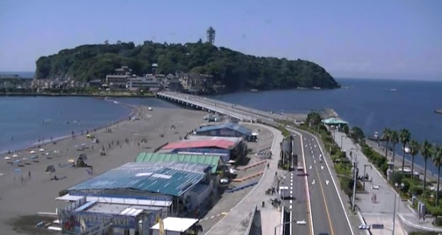 湘南 江の島ライブカメラ[USTREAM]と雨雲レーダー/神奈川県藤沢市