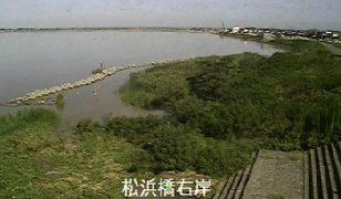 松浜橋付近ライブカメラと雨雲レーダー/新潟県新潟市
