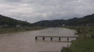 有路下橋(三河橋)などが見える由良川ライブカメラと雨雲レーダー/京都