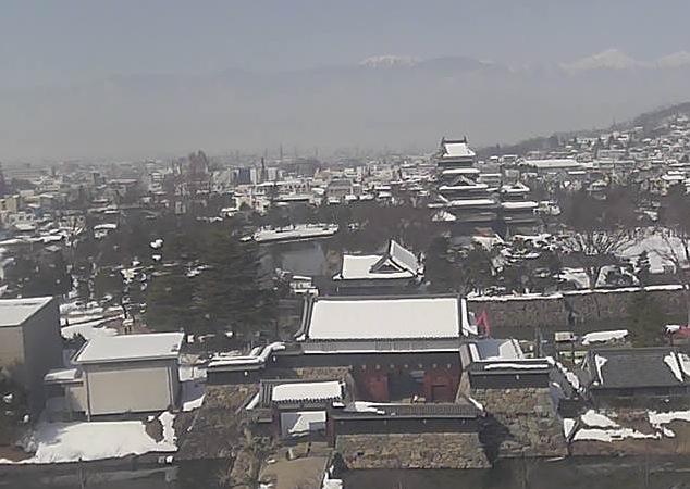 国宝 松本城ライブカメラ2と雨雲レーダー/長野県松本市