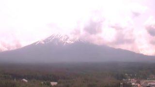 富士山ライブカメラ(ホテルレジーナ河口湖より)と雨雲レーダー/山梨県富士河口湖町