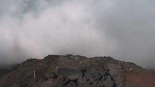 富士山の8合目ライブカメラと雨雲レーダー/山梨県