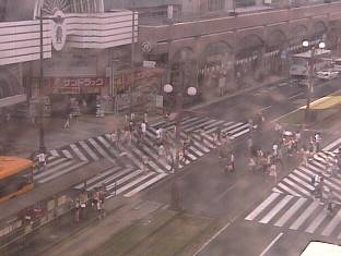 Takaplaから見える天文館ライブカメラと雨雲レーダー/鹿児島県鹿児島市