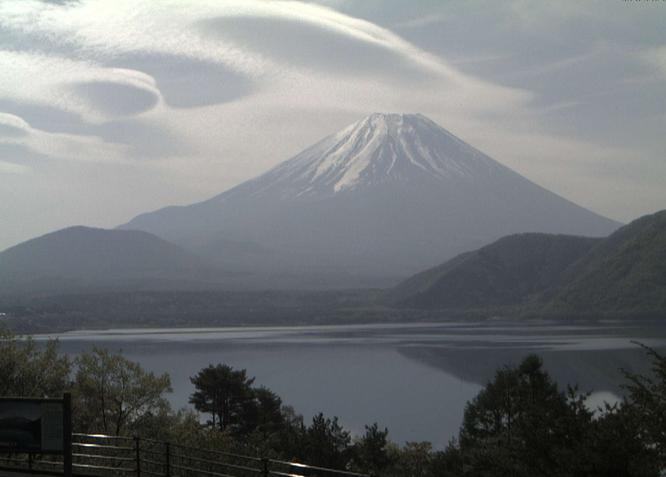 本栖湖から見える富士山ライブカメラ2