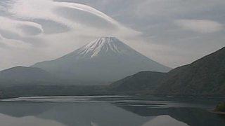本栖湖から見える富士山ライブカメラと雨雲レーダー/山梨県身延町