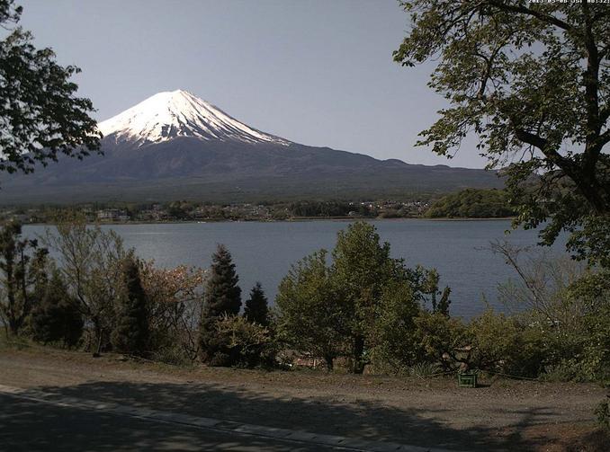 河口湖大石 富士山ライブカメラと雨雲レーダー/山梨県富士河口湖町