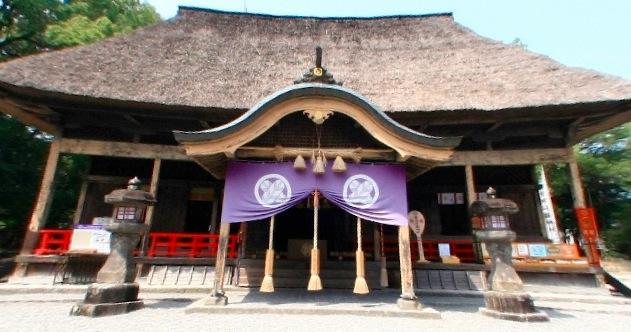 青井阿蘇神社の360度パノラマカメラ