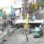 博多駅前の道路陥没ライブカメラ(NHK)