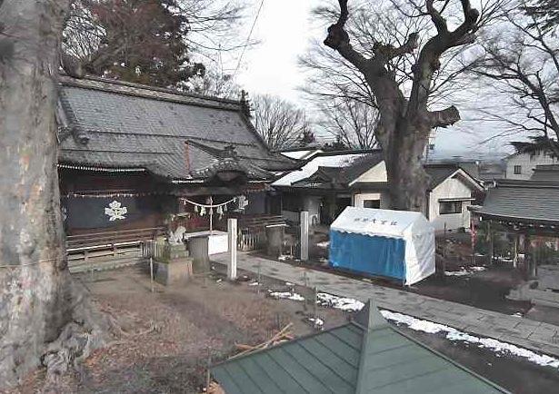 科野大宮社ライブカメラと雨雲レーダー/長野県上田市