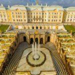 都市サンクトペテルブルクのペテルゴフ「夏の宮殿」360度パノラマカメラ