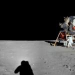 アポロ11号が撮影した月の360度パノラマカメラ