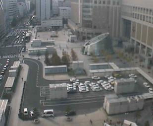 停止中:札幌駅前広場ライブカメラと雨雲レーダー/北海道札幌市