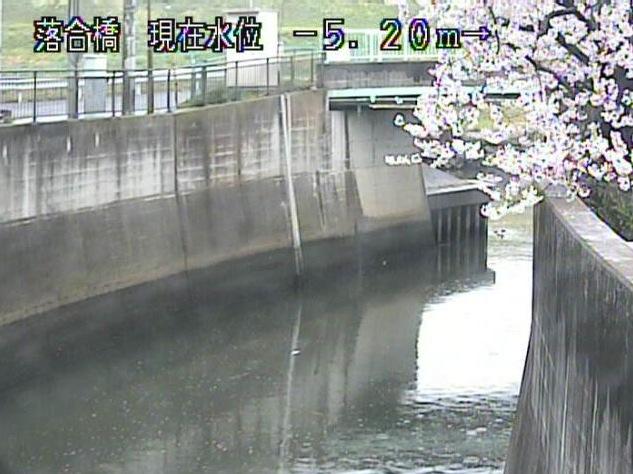 白子川 ライブカメラ(落合橋)と雨雲レーダー/東京都板橋区