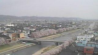 小矢部川(おやべがわ)ライブカメラと雨雲レーダー/富山県南砺市