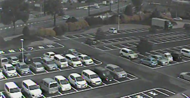 停止中:グランメッセ熊本の駐車場ライブカメラと雨雲レーダー/熊本県益城町