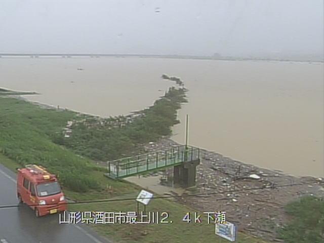 山形県酒田市 庄内地方の河川(最上川、赤川、小牧川など)ライブカメラと雨雲レーダー