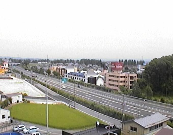 東北自動車道(郡山インターチェンジ付近)ライブカメラと雨雲レーダー/福島県郡山市