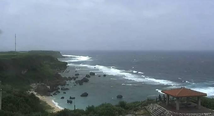 宮古島の東平安名崎ライブカメラと雨雲レーダー/沖縄県宮古島市
