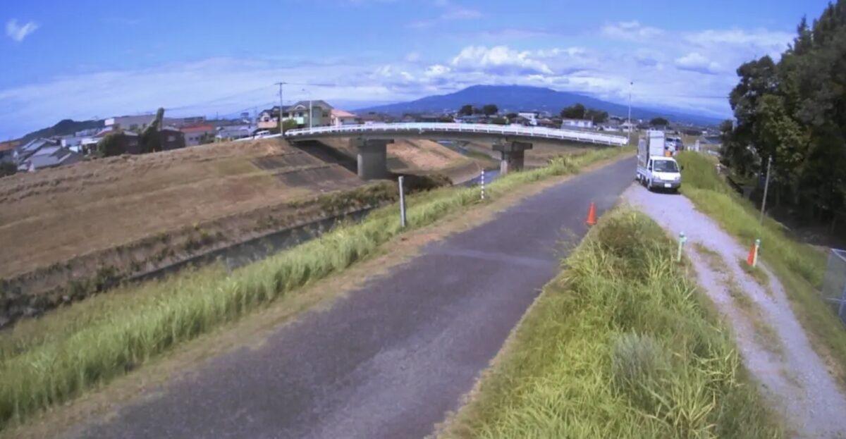 大場川・大場橋ライブカメラと雨雲レーダー/静岡県函南町間宮