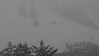 たざわ湖スキー場黒森山山頂ライブカメラと雨雲レーダー/秋田県仙北市