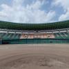 佐賀県立森林公園の球場の360度パノラマカメラ