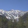 西穂高丘方向が見える上高地ビジターセンターライブカメラ