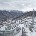 スキージャンプ台のスタート地点周辺360度パノラマカメラ