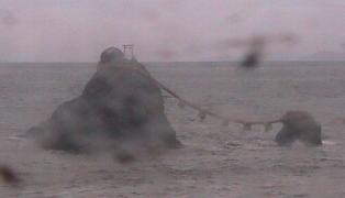 停止中:二見興玉神社の夫婦岩ライブカメラと雨雲レーダー/三重県伊勢市