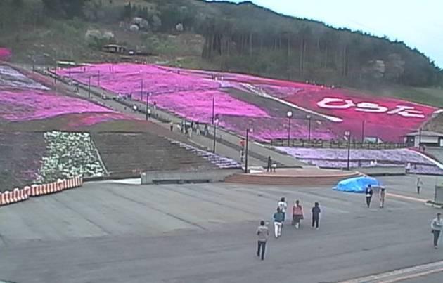 ジュピアランドひらたの芝桜ライブカメラと雨雲レーダー/福島県平田村