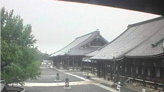 西本願寺ライブカメラと雨雲レーダー/京都府下京区