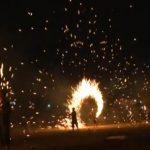 """2015年8月22日 """"若狭高浜漁火想の櫓龍(やぐらどらごん)""""ライブカメラ"""