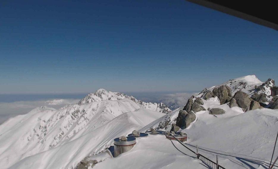 富山県立山町 北アルプス立山(雄山)頂上(3,000m)ライブカメラと雨雲レーダー