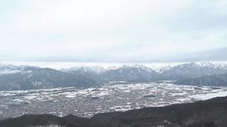鷹狩山山頂から眺める北アルプスライブカメラと雨雲レーダー/長野県大町市