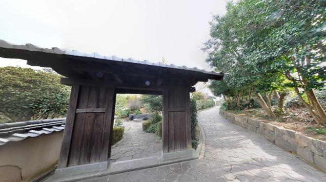 中根邸の裏側360度パノラマカメラ