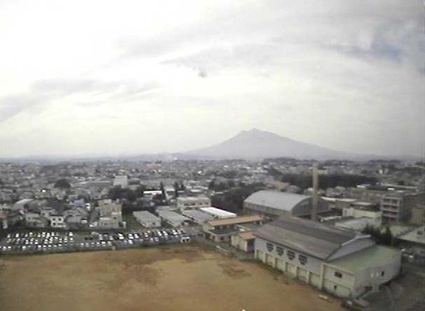 岩木山ライブカメラ2と雨雲レーダー/青森県弘前市