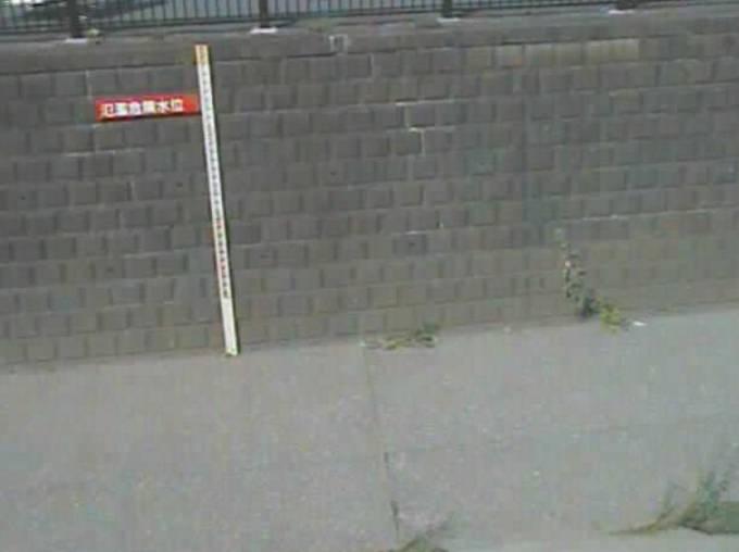 東京都中野区 神田川(鷺盛橋)の水位ライブカメラと雨雲レーダー