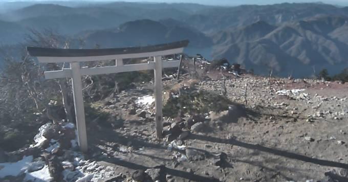 男体山山頂ライブカメラと雨雲レーダー/栃木県日光市