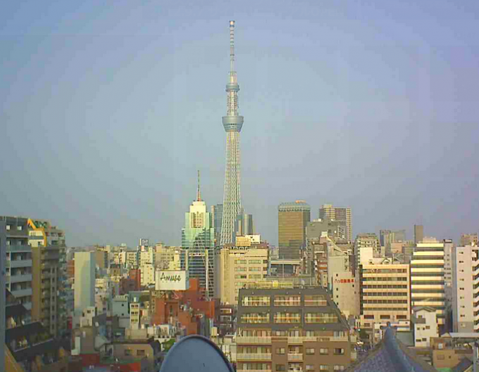 停止中:東京都台東区 東京スカイツリーライブカメラと雨雲レーダー