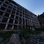 廃墟好きにおすすめ!軍艦島 70号棟・端島小中学校(外観)の360度パノラマカメラ