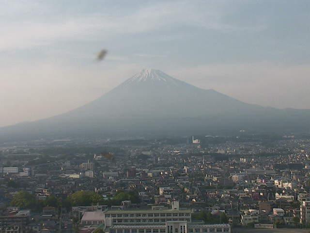 富士市役所から見える富士山ライブカメラと雨雲レーダー/静岡県富士市