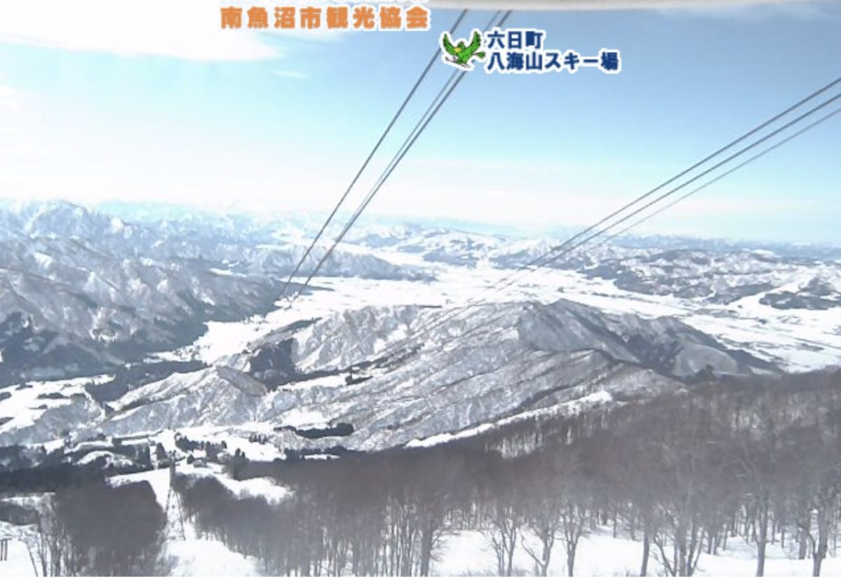 六日町 八海山スキー場 ライブカメラと雨雲レーダー/新潟県南魚沼市