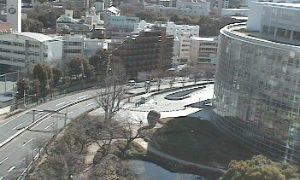 停止中:六本木ヒルズ毛利庭園ライブカメラと雨雲レーダー/東京都港区