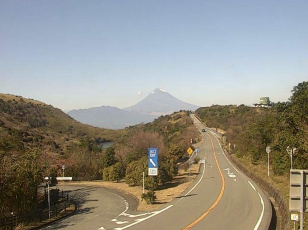 伊豆スカイラインから見える富士山ライブカメラと雨雲レーダー/静岡県函南町