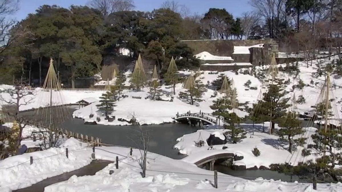 玉泉院丸庭園 ライブカメラと雨雲レーダー/石川県金沢市