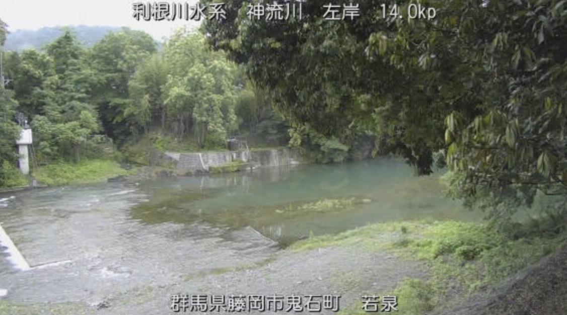 神流川・若泉ライブカメラと雨雲レーダー/群馬県藤岡市