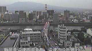 狩野川 ライブカメラと雨雲レーダー/静岡県沼津市