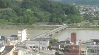 球磨川・水の手橋 ライブカメラ(RKK)と雨雲レーダー/熊本県人吉市