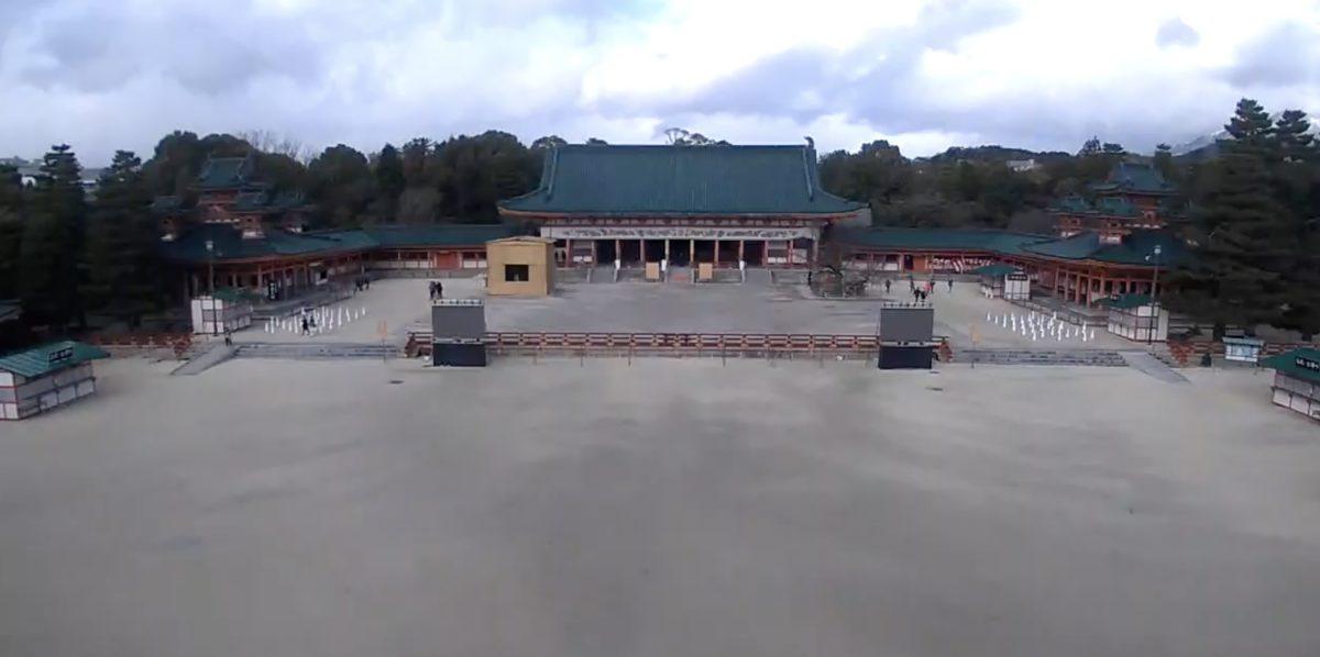 停止中:平安神宮 ライブカメラと雨雲レーダー/京都府京都市